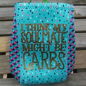 """Handbags - NEW Lunch bag """"I think my soulmate might be carbs,"""